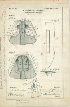 RG-241 Patent 685994: Patent Drawing of G. Levitas & M. Gorchakoff Combined Coat and Vest.