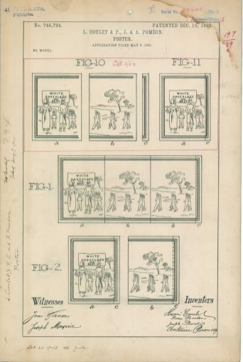 RG-241 Patent 746794: Patent Drawing of L. Coulet & P., J. & A. Pomen Poster.