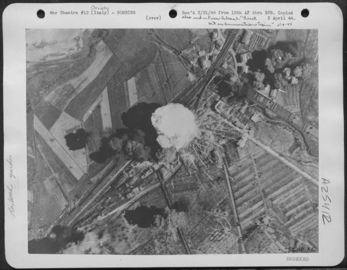 Photograph of a Bombing Attack