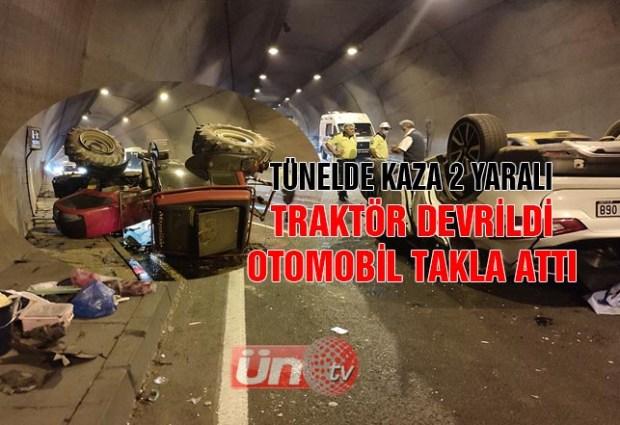 Tünelde Kaza:2 Yaralı