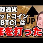 暗号通貨BTCが底を打つ!【仮想通貨】
