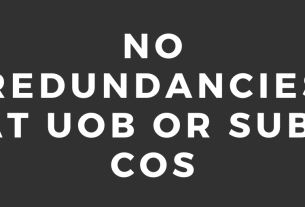No redundancies at UoB or Sub-cos