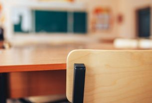 An empty school room