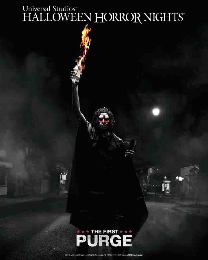"""""""The First Purge"""" maze at Universal Studios Hollywood's """"Halloween Horror Nights,"""" beginning Friday, September 14, 2018"""