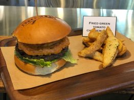 Fried Green Tomato Cheeseburger - $15.00