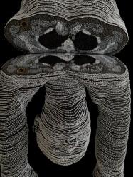 Orixa 2010, seed beads and foam rubber