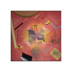 "3 ""Background Radiation II"" woodcut, mixed media, on paper on wood panel, image size: 140cm x 140cm, 2014"