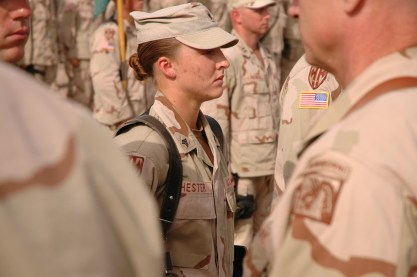 Talks of requiring women to sign up for the draft at 18 stirs controversy in the government and civilian sectors.