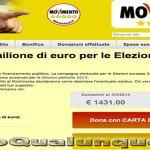 Grillo chiede 1 milione di Euro per le Elezioni europee