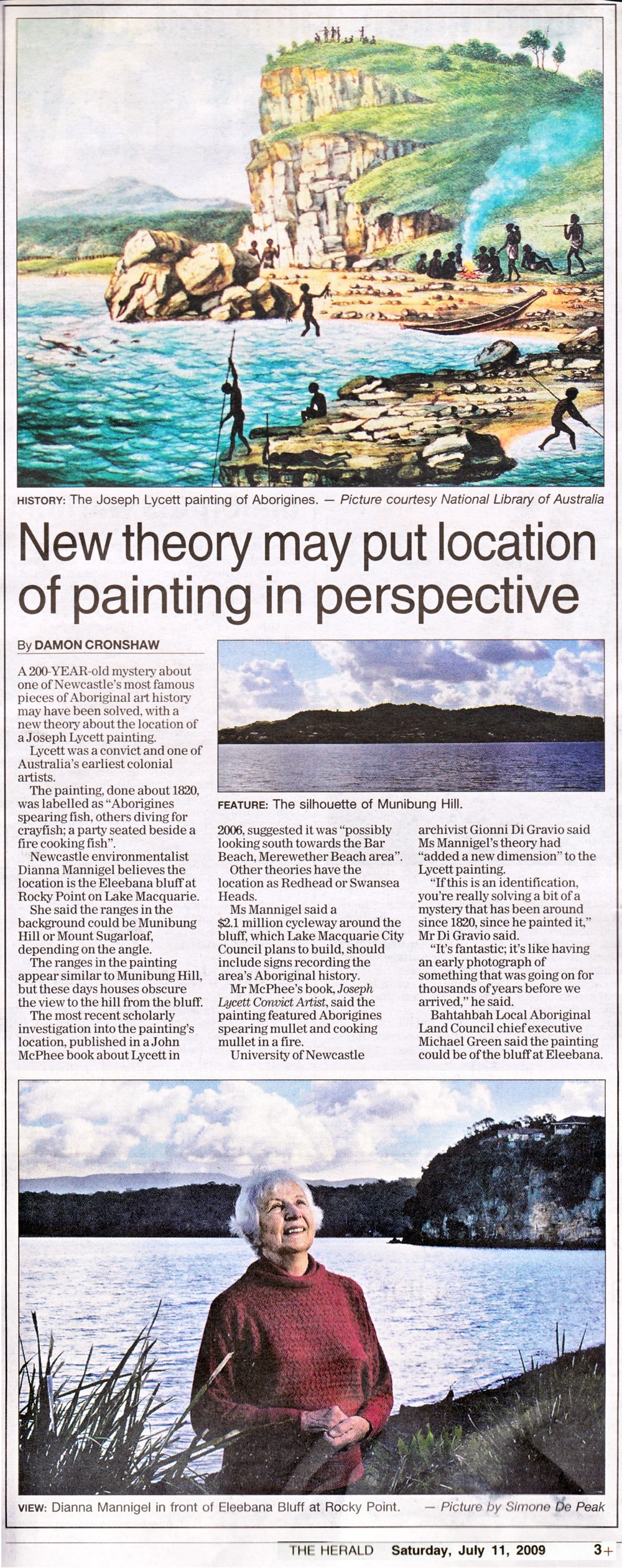 New Theory may put location of painting in perspective by Damon Cronshaw