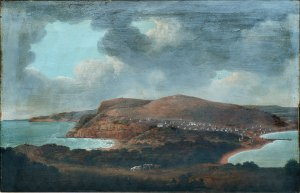 Joseph Lycett (c1774/75 - 1828) - Newcastle, New South Wales, looking towards Prospect Hill.