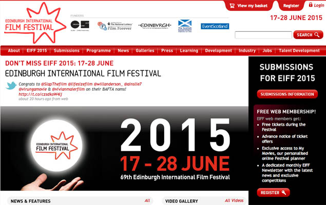 Edinburgh film festival web site