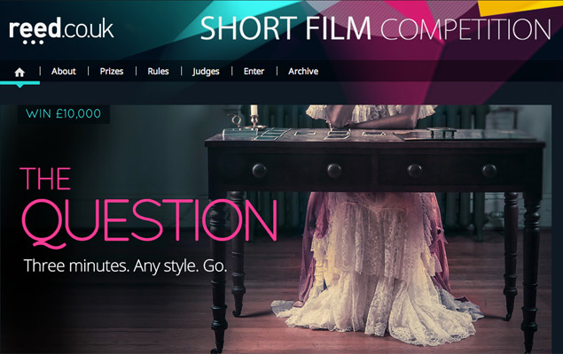 Reed.co.uk Film Competition is live