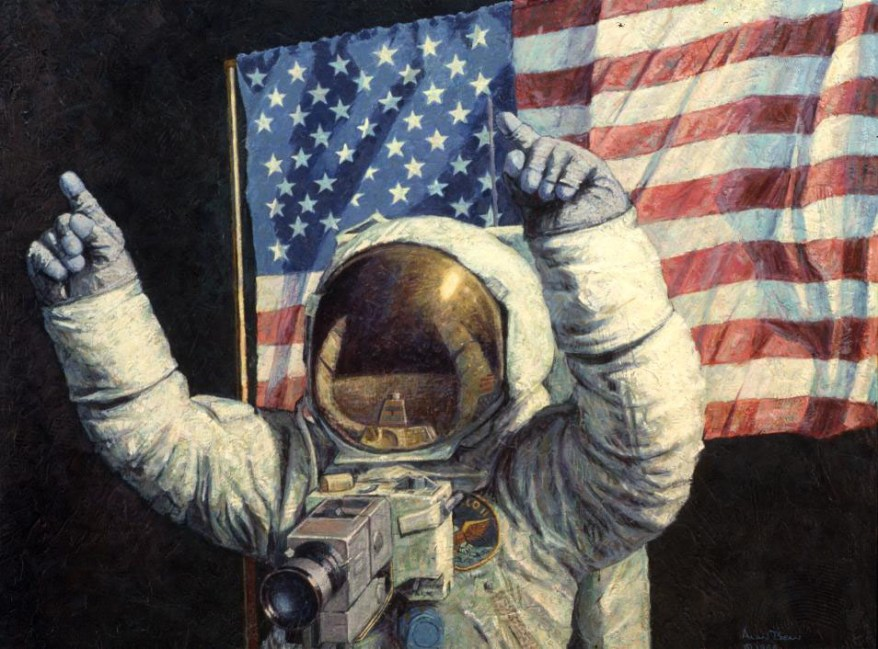 Neil Armstrong Celebrating - Alan Bean