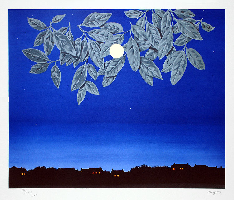 La page blanche - Magritte