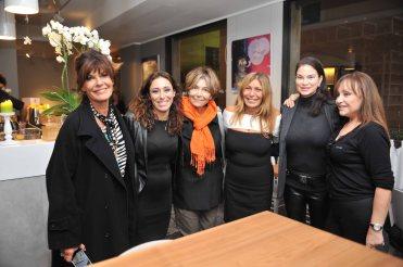 Da sx Mita Medici, Francesca Vecchioni, Carla Vistarini, Irene Bozzi, Demetra Hampton, Adriana Russo
