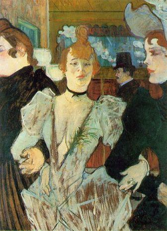 Toulouse-Lautrec La Goulue arriving at the Moulin Rouge (1892)