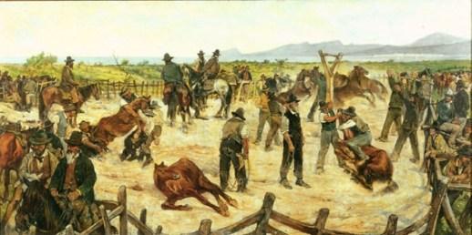 Marcatura dei cavalli in Maremma