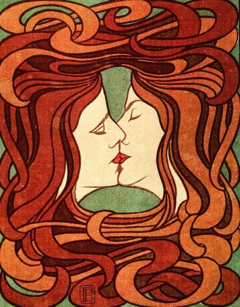 The kiss Peter Behrens
