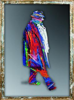 Federico Fellini_2012_Olio eacrilico su specchio_153x114