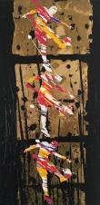 Il calcio_2010_40x80_Olio, acrilico e tecnica mista su tela