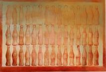 VENEZIANO 45 coca cole nel deserto, Olio e acrilico su tela, cm 115 x 81, 2016