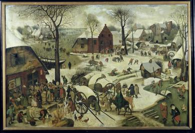 The Census at Bethlehem by Pieter Bruegel the Elder (1566)