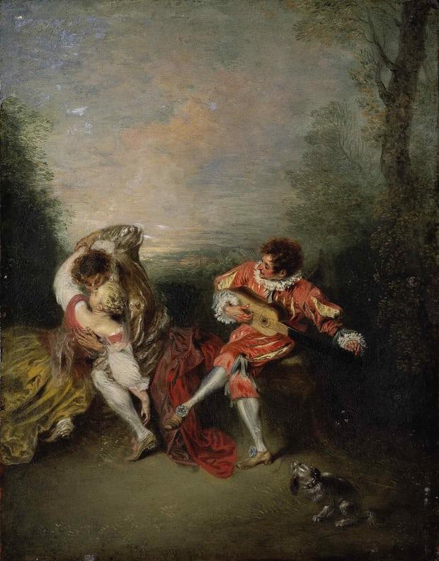 Watteau The Surprise (c1718)