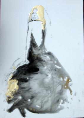 Spumeggiante 20x02 cm 2017 su carta