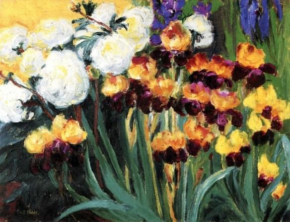 Emil Nolde - Peonies and Irises, 1936