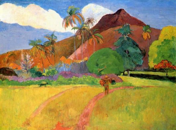 Paul Gauguin Tahitian Landscape (1893)