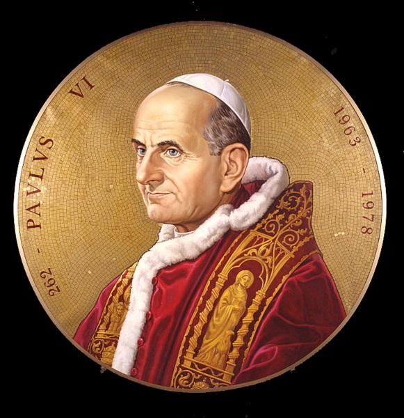 Fausto Conti, Ritratto di Papa Paolo VI, 1963 olio su tela Città del Vaticano, Fabbrica di San Pietro in Vaticano