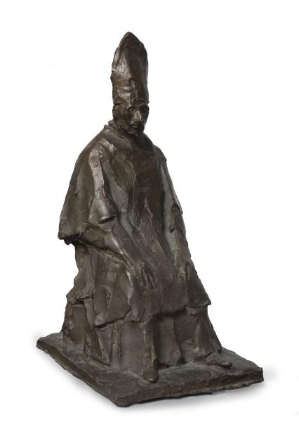 Giacomo Manzù, CARDINALE 1945 ca. bronzo patinato Roma, Cesare Lampronti Commissionaria d'arte srl
