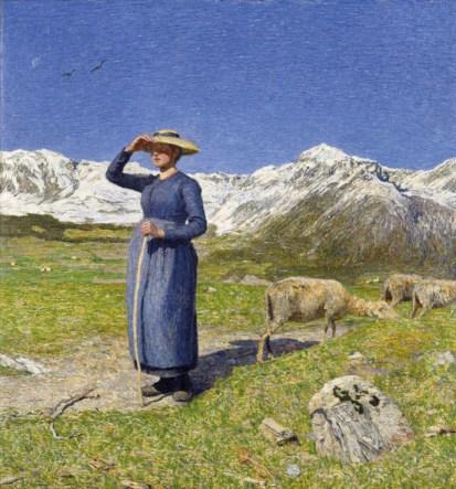 """G.-Segantini-""""Mezzogiorno-sulle-Alpi""""-1891-coll.-privata"""