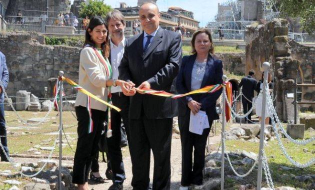 Inaugurazione del nuovo percorso del Foro Romano