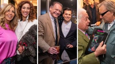 Nelle foto da sinistra Tina Vannini e Roberta Garzia, Alessandro Cecchi Paone e Daniele Cipriani, Roberto Capucci ed Enrico Manera