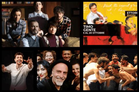 Ragazzi di vita al Teatro Argentina, L'attimo fuggente al Teatro Ghione, Il silenzio  grande al Teatro Quirino, Santo piacere al Sala Umberto, Valium al Cometa