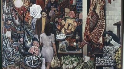 Renato Guttuso, La Vucciria, 1974, olio su tela, cm. 300x300. Università degli studi di Palermo