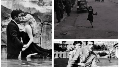 La dolce vita, Roma città aperta e Vacanze romane