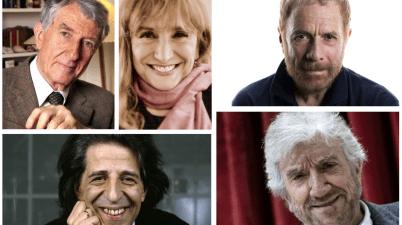 Giorgio Gaber, Gabriele Lavia, Corrado Augias, Gigi Proietti e Piera Degli Esposti