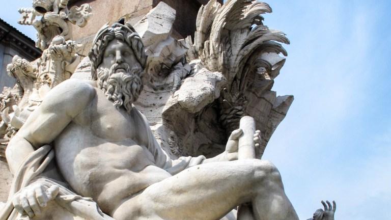 Fontana dei quattro fiumi, piazza navona,