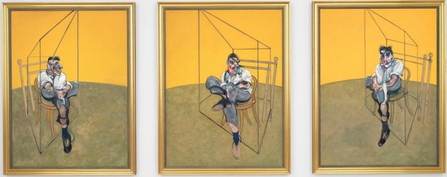 Francis Bacon, Three Studies of Lucian Freud