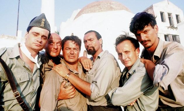 Mediterraneo (1991) di Gabriele Salvatores. Premio oscar come miglior film straniero con Diego Abatantuono, Claudio Bigagli, Giuseppe Cederna, Claudio Bisio e Vana Barba.