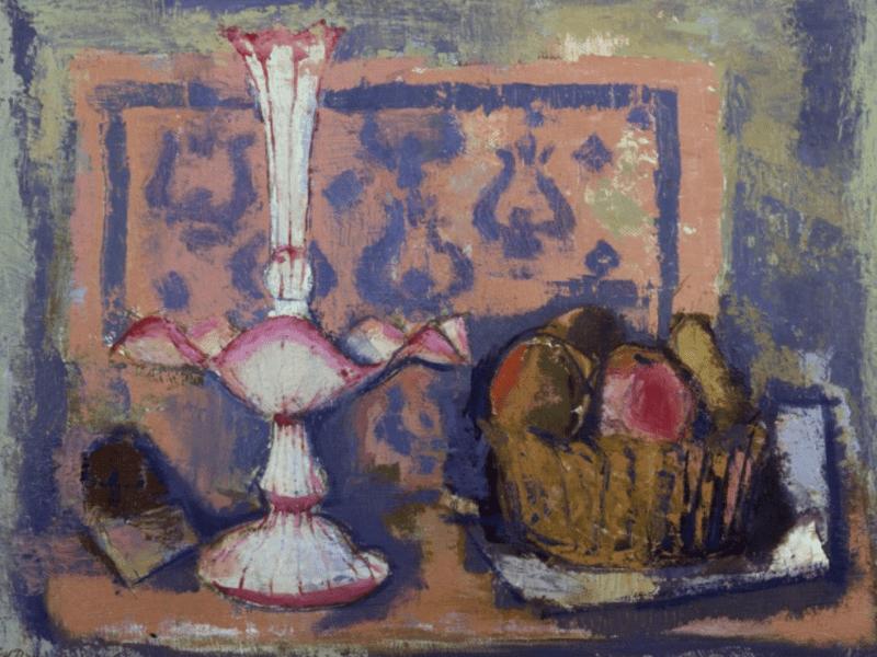 Cestino con frutta e fruttiera bianca di Giovanni Brancaccio
