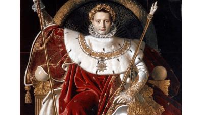 Il dipinto del 1806: Napoleone I sul trono imperiale di Jean-Auguste-Dominique Ingres