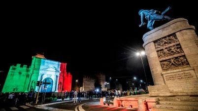 nuova illuminazione di Porta Pia e del monumento al bersagliere