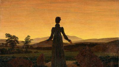 Il dipinto del 1818: Donna al tramonto del sole e la solitudine per Caspar David Friedrich