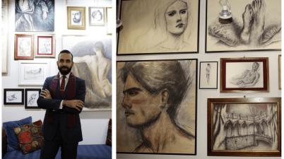 Roberto Di Costanzo, atelier, mostra,
