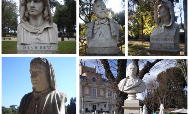 Villa Borghese, Busti del Pincio