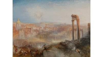 Il dipinto del 1839: Modern Rome – Campo Vaccino, l'omaggio a Roma di William Turner